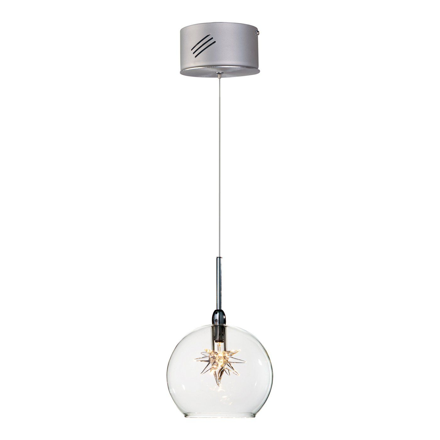 Et lighting e starburst star mini pendant satin nickel atg