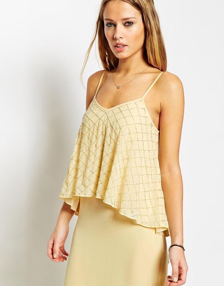Yellow embellished maxi dress