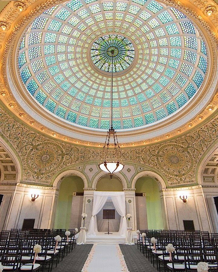 Modern Vintage Chicago Wedding Turns Out Chicago Cultural Center Modwedding Chicago Cultural Center Chicago Wedding Chicago Engagement