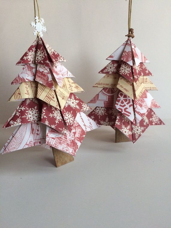 Handmade paper Christmas tree Christmas by MossflowerAbbey on Etsy