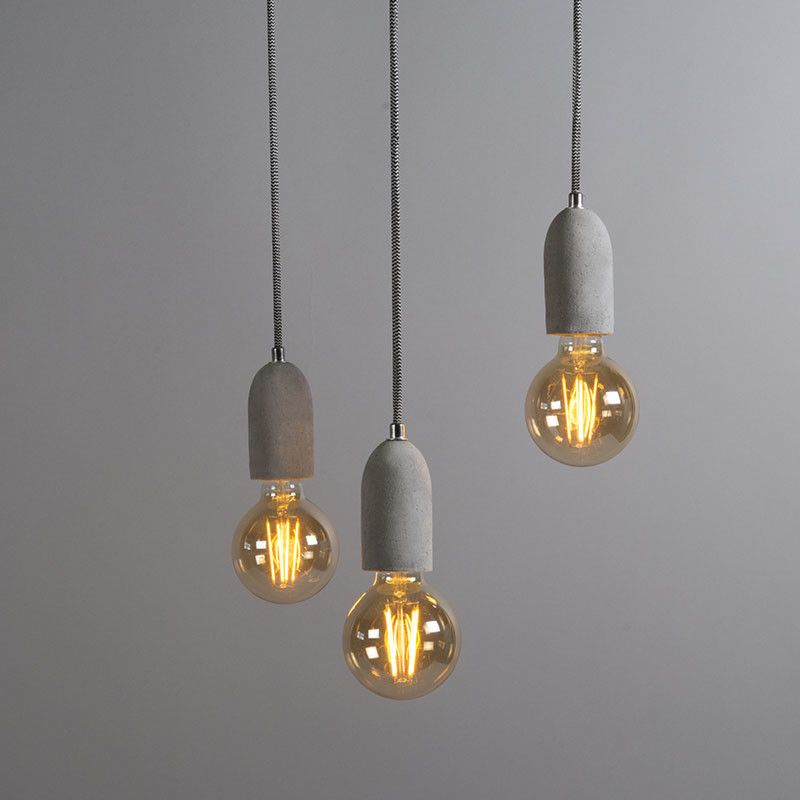 Industriele Hanglamp Grijs Beton Cava 3 Hanging Lamp Pendant Lamp Lamp