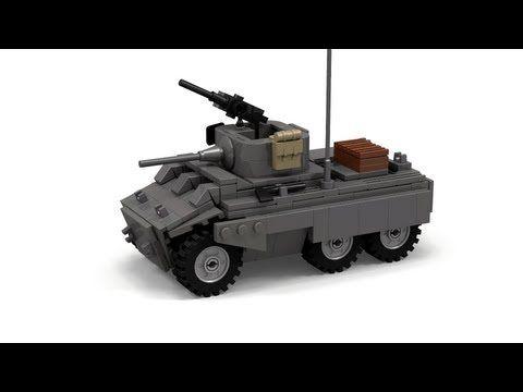 Lego Wwii M8 Greyhound Instructions Youtube Lego Pinterest