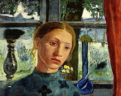 Paula Modersohn-Becker, A girl in front to a window on ArtStack #paula- modersohn-becker #art | Paula modersohn becker, Female painters, Female  artists