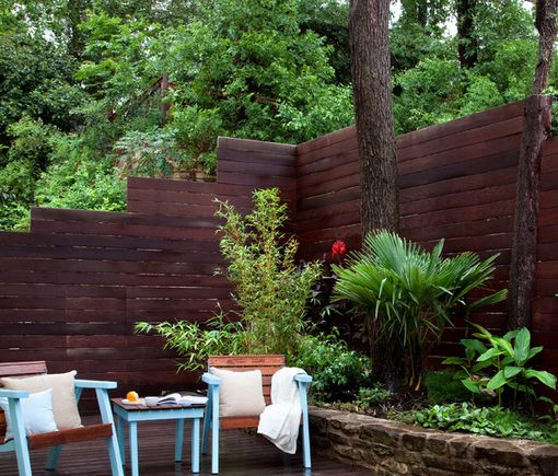 Multi Level Fence Panelling. If You're Garden Is Built On