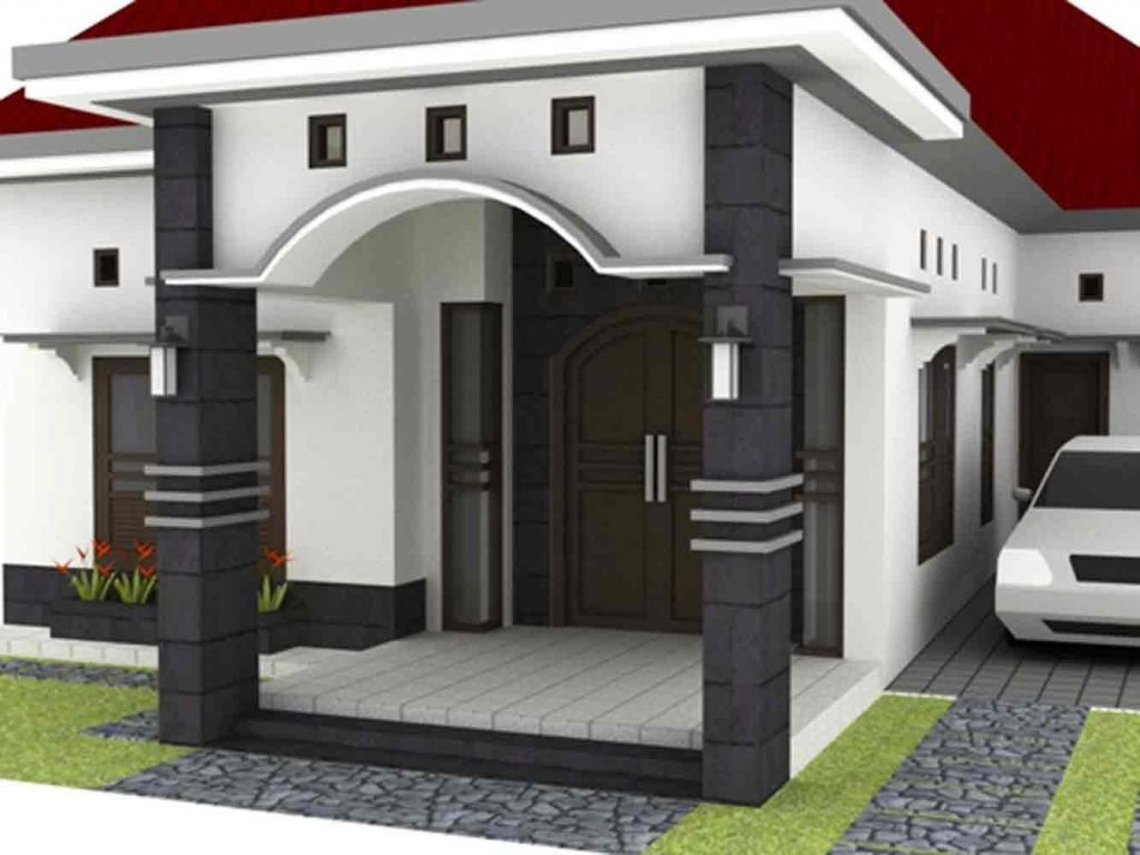 Teras Cor Minimalis Rumah Sederhana Atap Cor Homes 4 Bedroom House Designs House