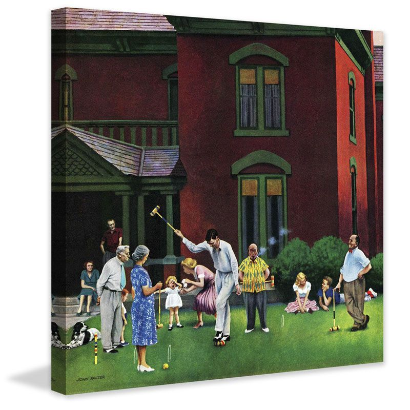 Marmont Hill Croquet Game John Falter Painting Print on Canvas