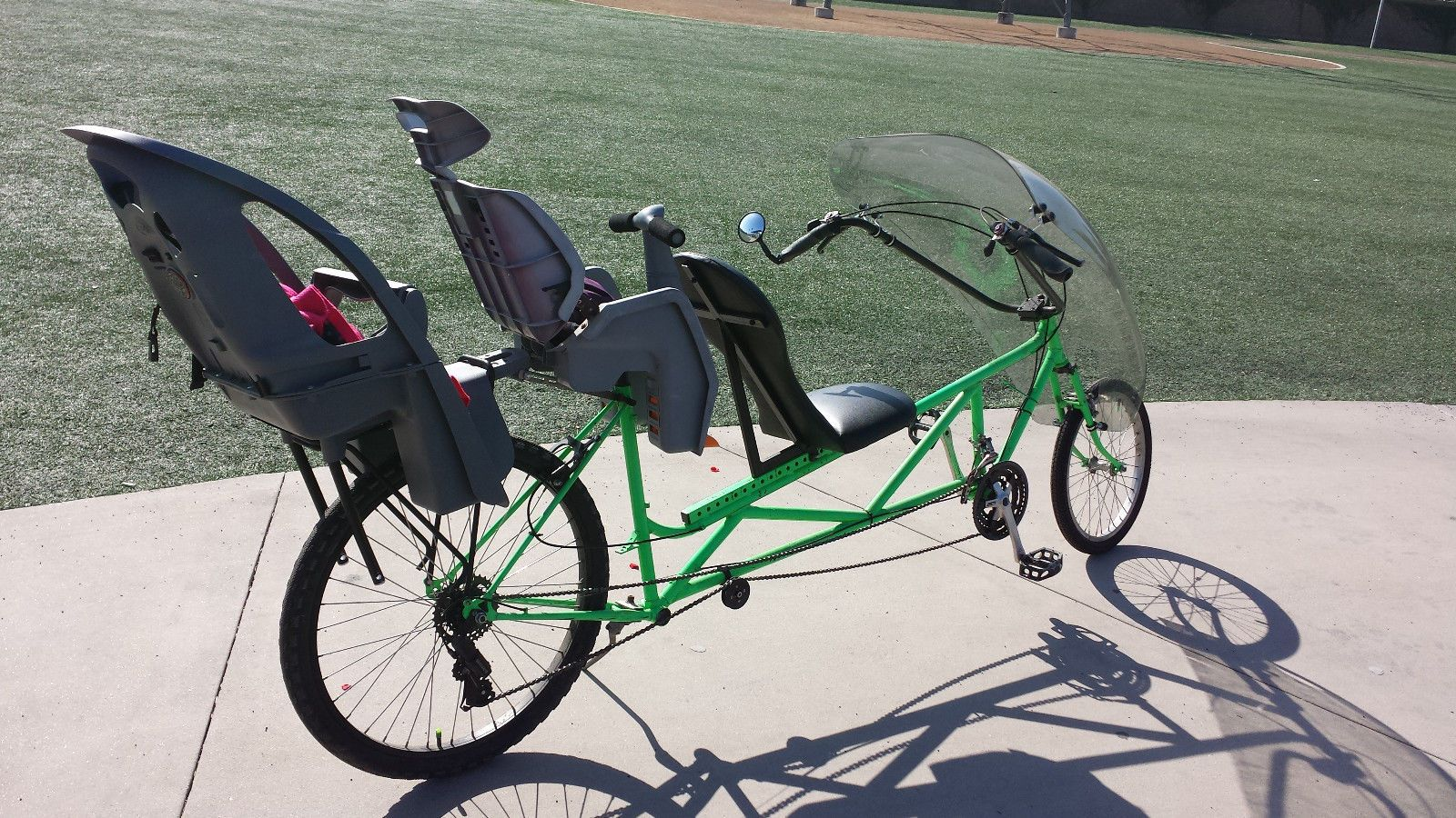 Tour Easy Recumbent Bike One Of A Kind Custom 2 Child Seats Free Delivery In Oc Ebay Bike Recumbent Bicycle Kids Seating