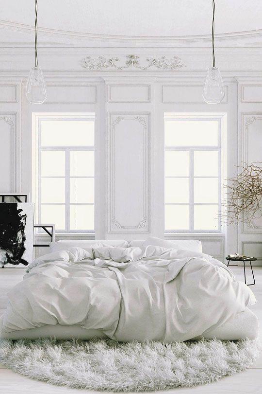 La chambre blanche C\u0027est très relaxant et jolie La Maison en