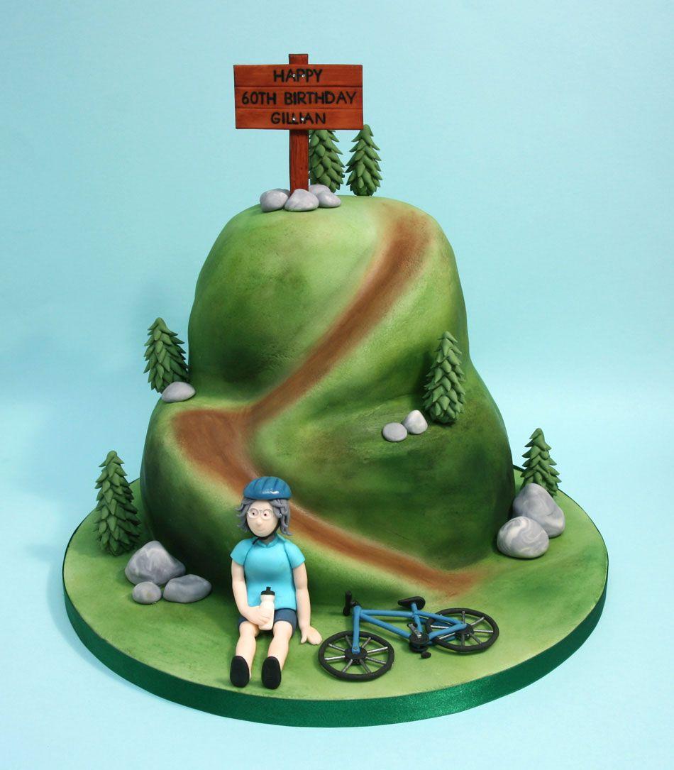 Mountain bike cake with detailed close-ups Cakes ...
