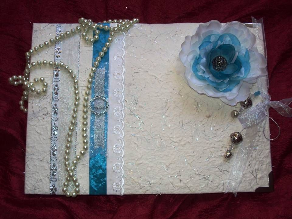 Turquoise, silver and White
