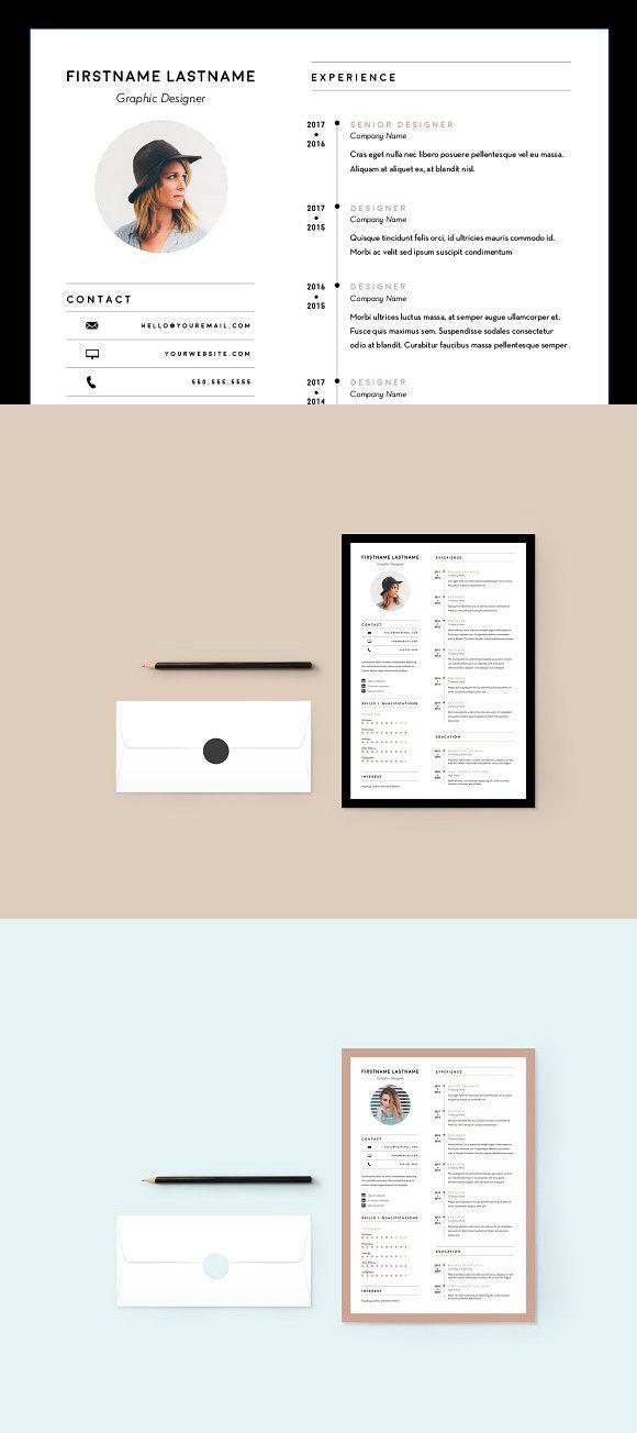Minimal Sophisticated Resume / CV Pinterest Resume cv, Cv resume