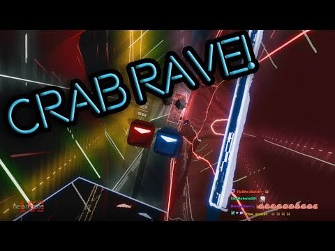 Actually playing Crab Rave in Beat Saber (Full Combo) - YouTube