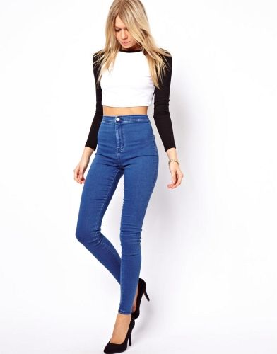 Yuksek Bel Pantolon Modelleri Fashion Denim Women Denim Jeggings