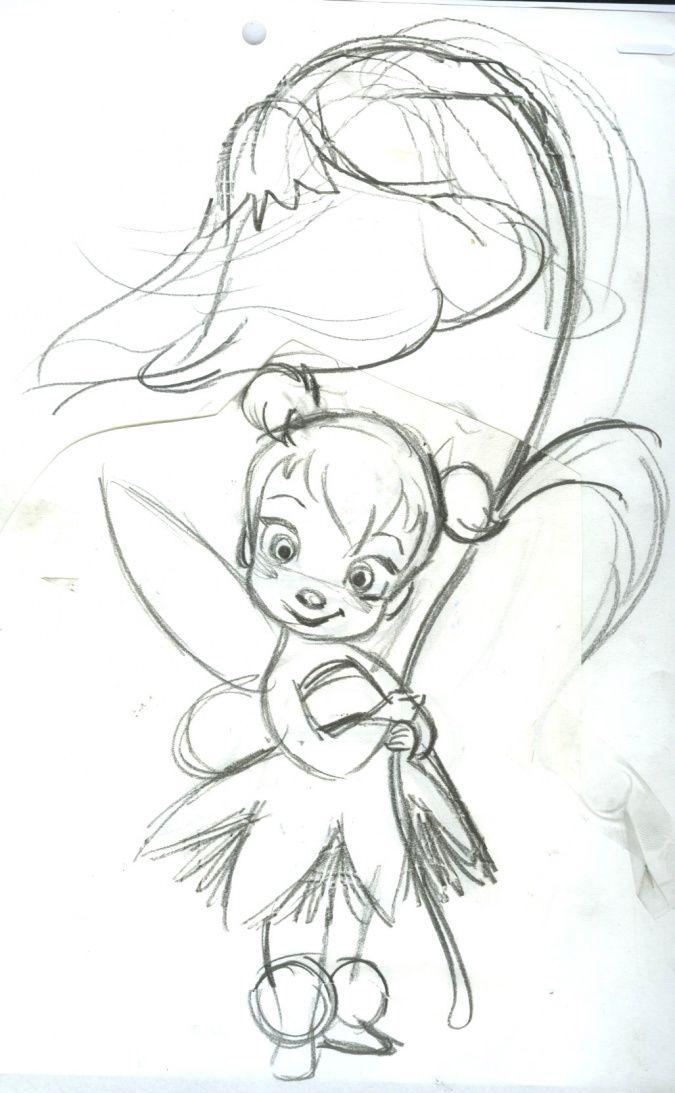 Baby Tinkerbell Dessins Disney Croquis Dessin Dessin Feerique