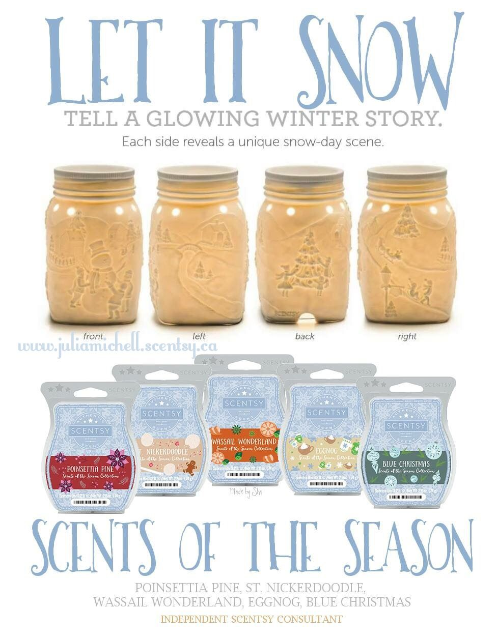Let is snow warmer + 5 bars for only $36! www.juliamichell.scentsy.ca