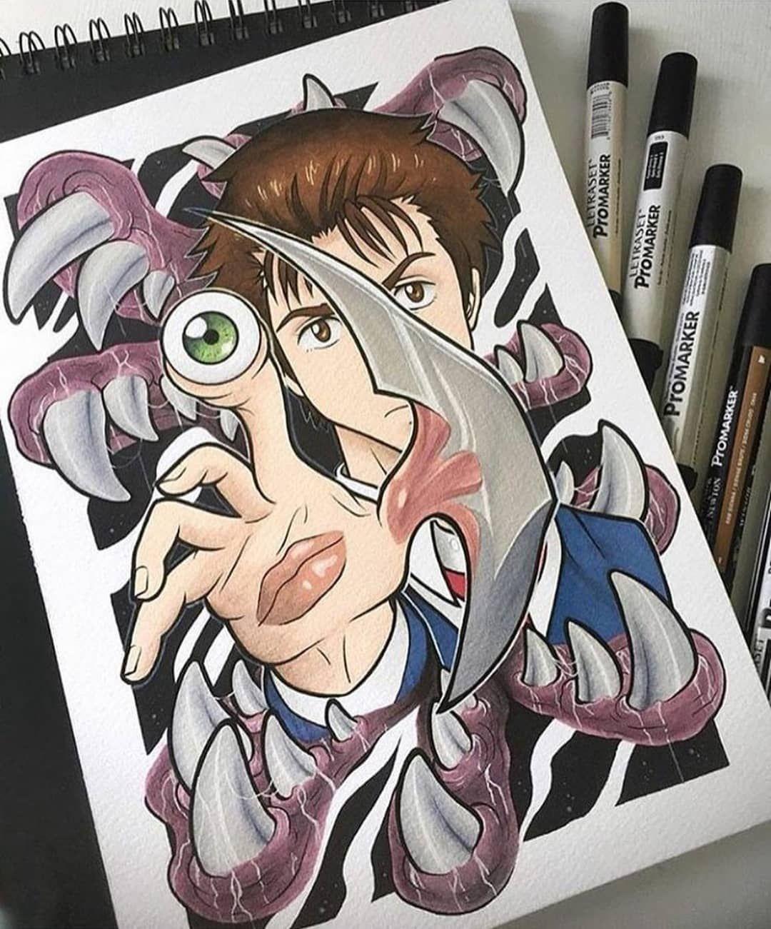 Parasyte Animé, Esquisse d'animé, Manga japonais