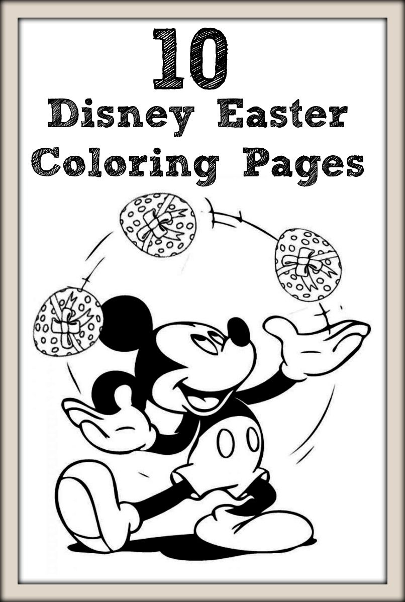 Want To Provide Your Child An Amazing Time With Colors Cartoons How About Disney Characters Here Are 10 Best Free Printable Easter Coloring Pages