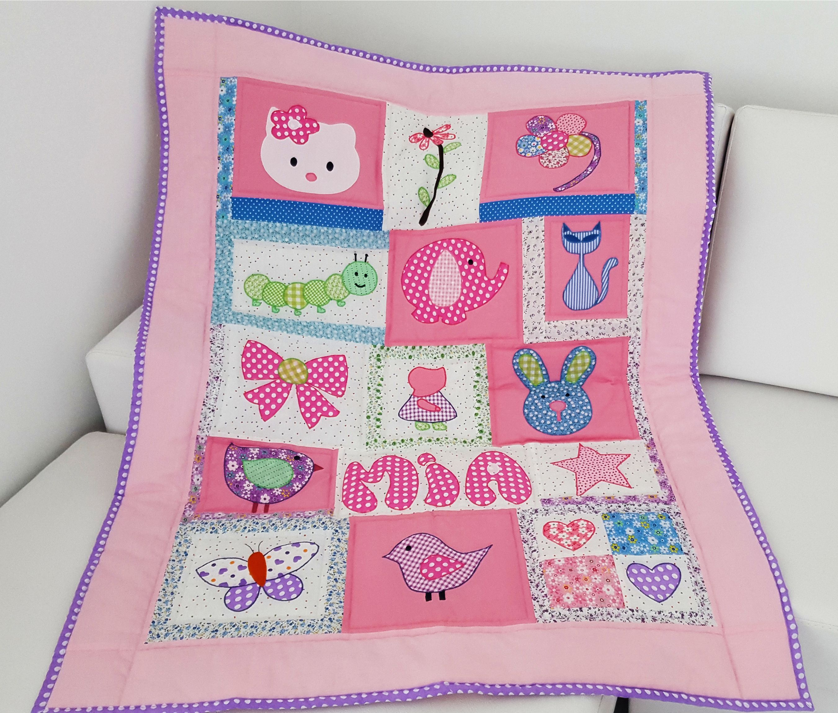 Baby Quilt Pink Quilt Hello Kitty Quilt Girl Quilt