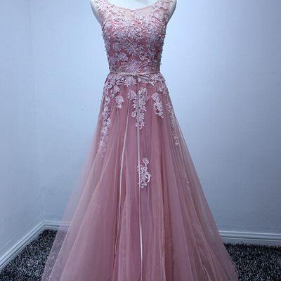 A-line Sweetheart Tulle Prom Dress Purple