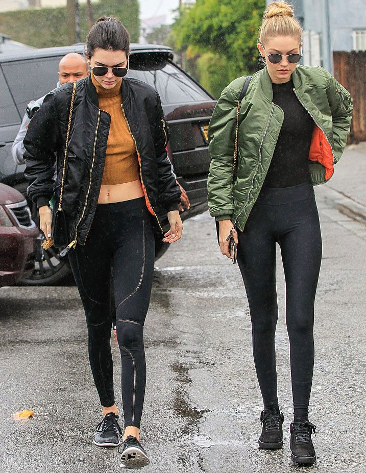 1bcec048d4 Kendall Jenner and Gigi Hadid show us how to wear yoga pants around town;