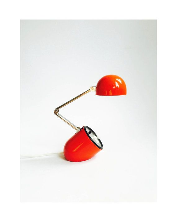Vintage Collapsible Task Light Red