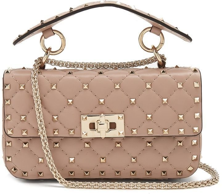 The Rockstud Spike Small Quilted Leather Shoulder Bag - Blush Valentino 9ys9U0SSO