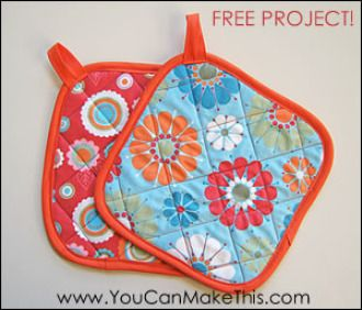 """Free! Make Hot Pads! A """"You Can SEW This!"""" Project 
