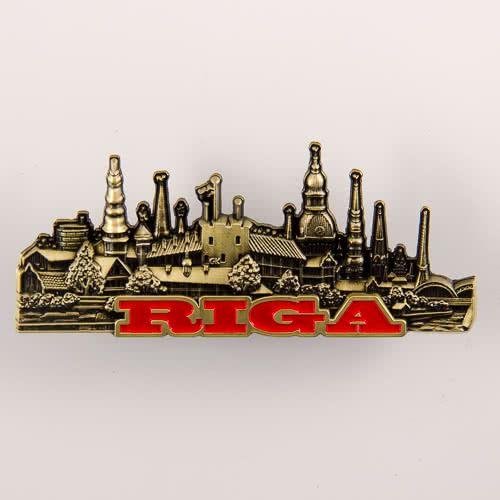 Metal Fridge Magnet: Russia Tobolsk Kremlin Silver Color