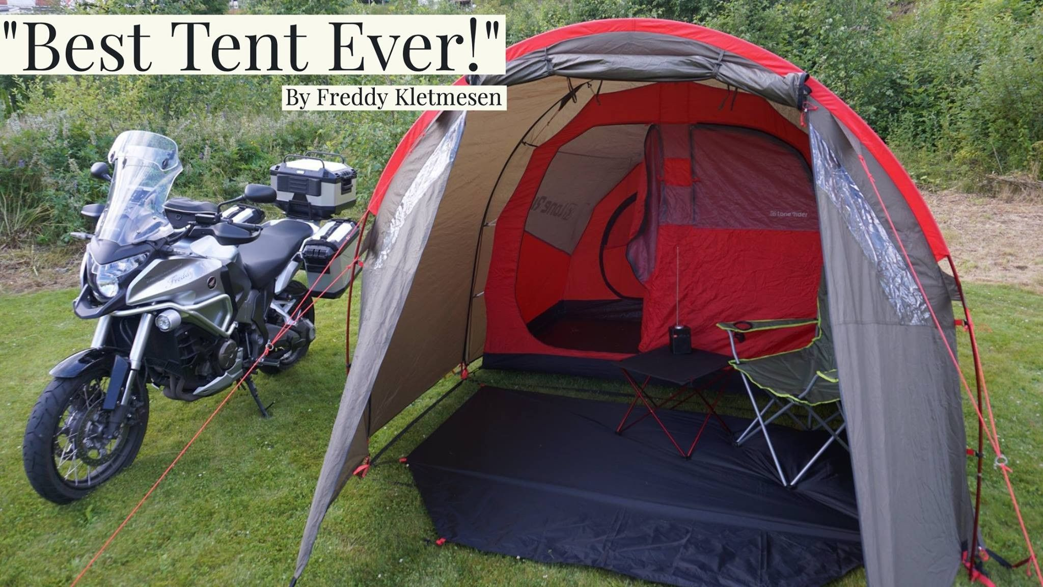 The MOTOTENT is a top of the line motorcycle tent built by riders for riders. It has the strength and durability to handle the roughest environments. & LONE RIDER: The Motorcycle Tent MotoTent | Motocicleta | Pinterest ...