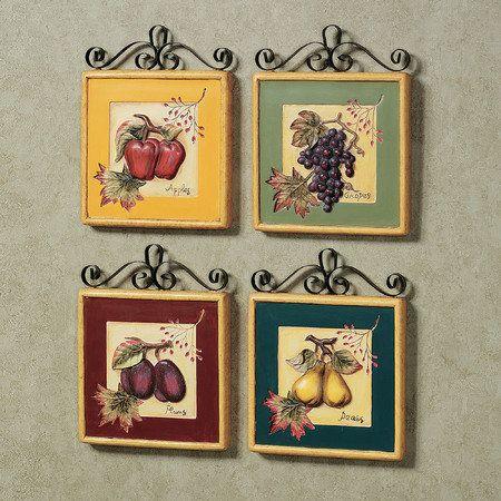 Fruit Wall Decor new fruit wall plaque set | kitchen | pinterest | walls, kitchens
