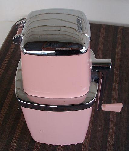 Vintage Swing Away Ice Crusher Pink Chrome Retro Kitchen Home Decor