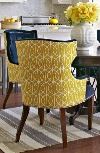 Chairs Upholstered In Two Different Fabrics Can Have Real Pop