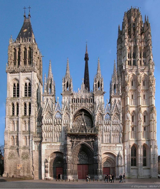 Cathedrale Notre Dame De Rouen Rouen Cathedral Normandy France Normandie Frankrijk Kathedraal Katholieke Kerken