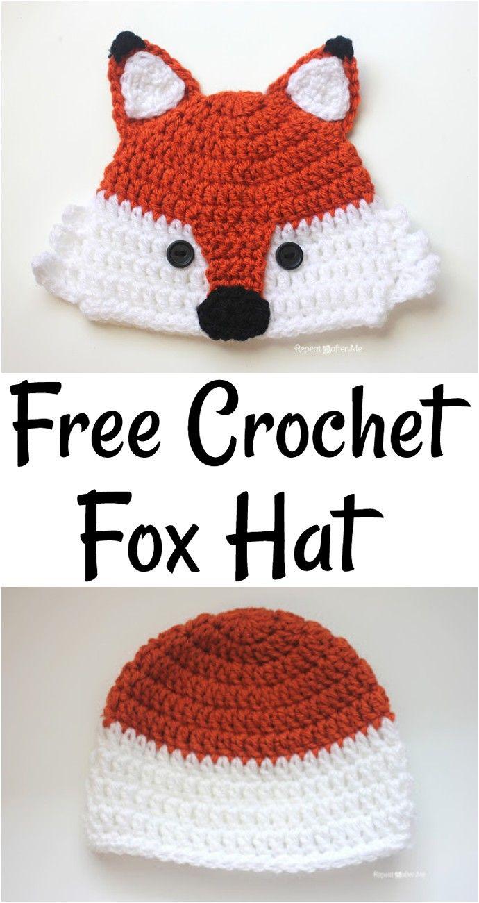 10 Crochet Fox Hat Patterns – All Free Patterns