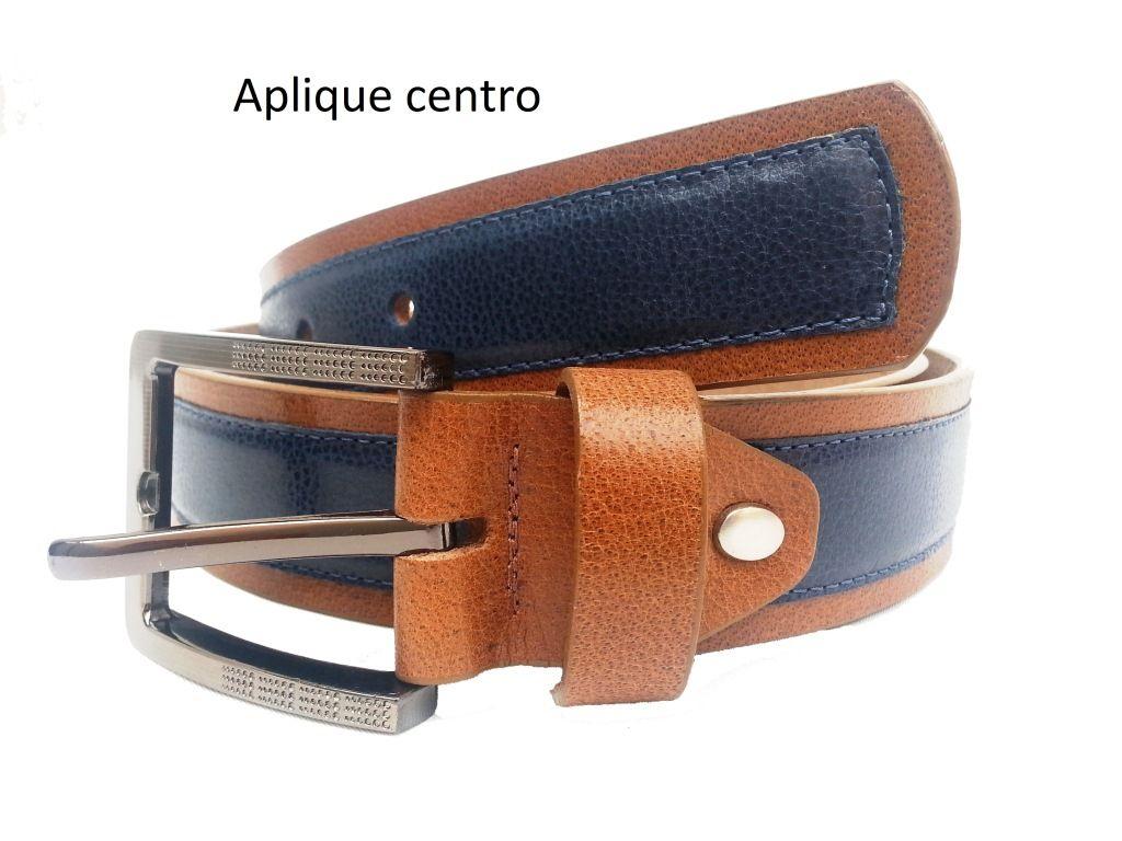 cinturon aplique centro color miel con azul  79b849cfe58e