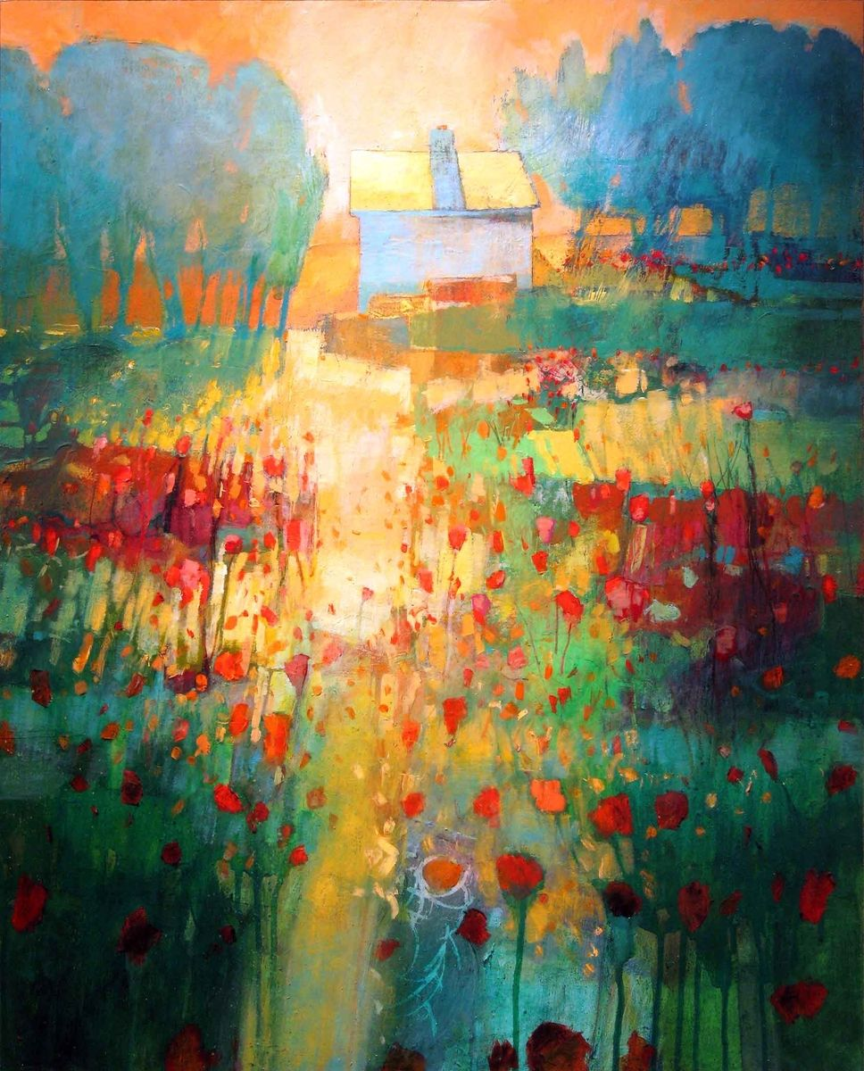 Contemporary Painting My Neighbor S House 890 Original Art From Mark Gould Fine Art Contemporary Paintings Art Art Painting
