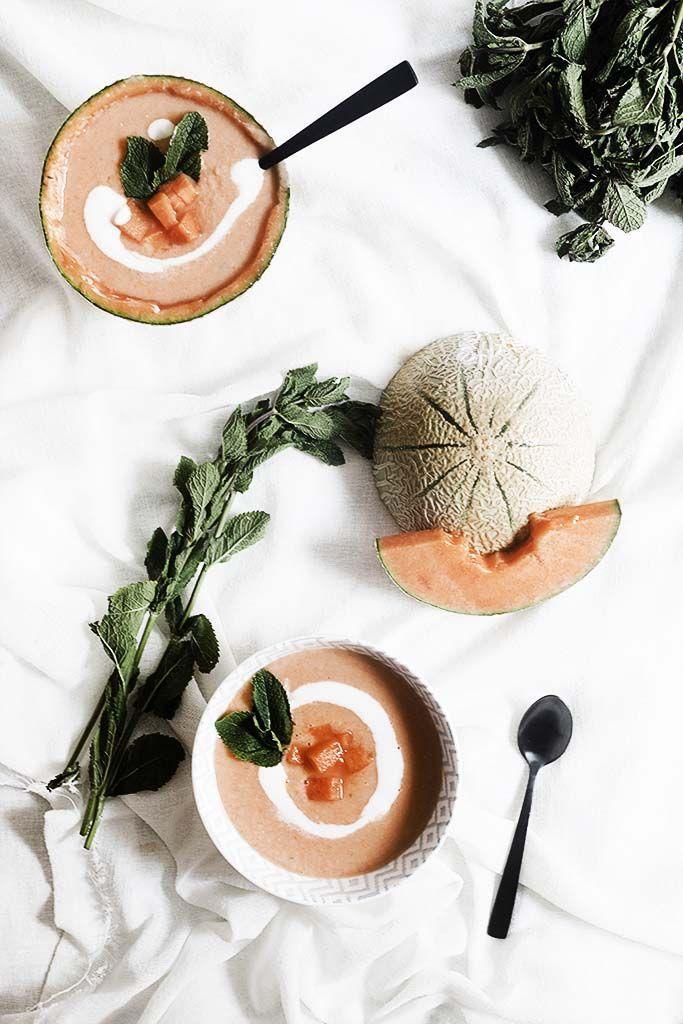 ... cold melon soup ...