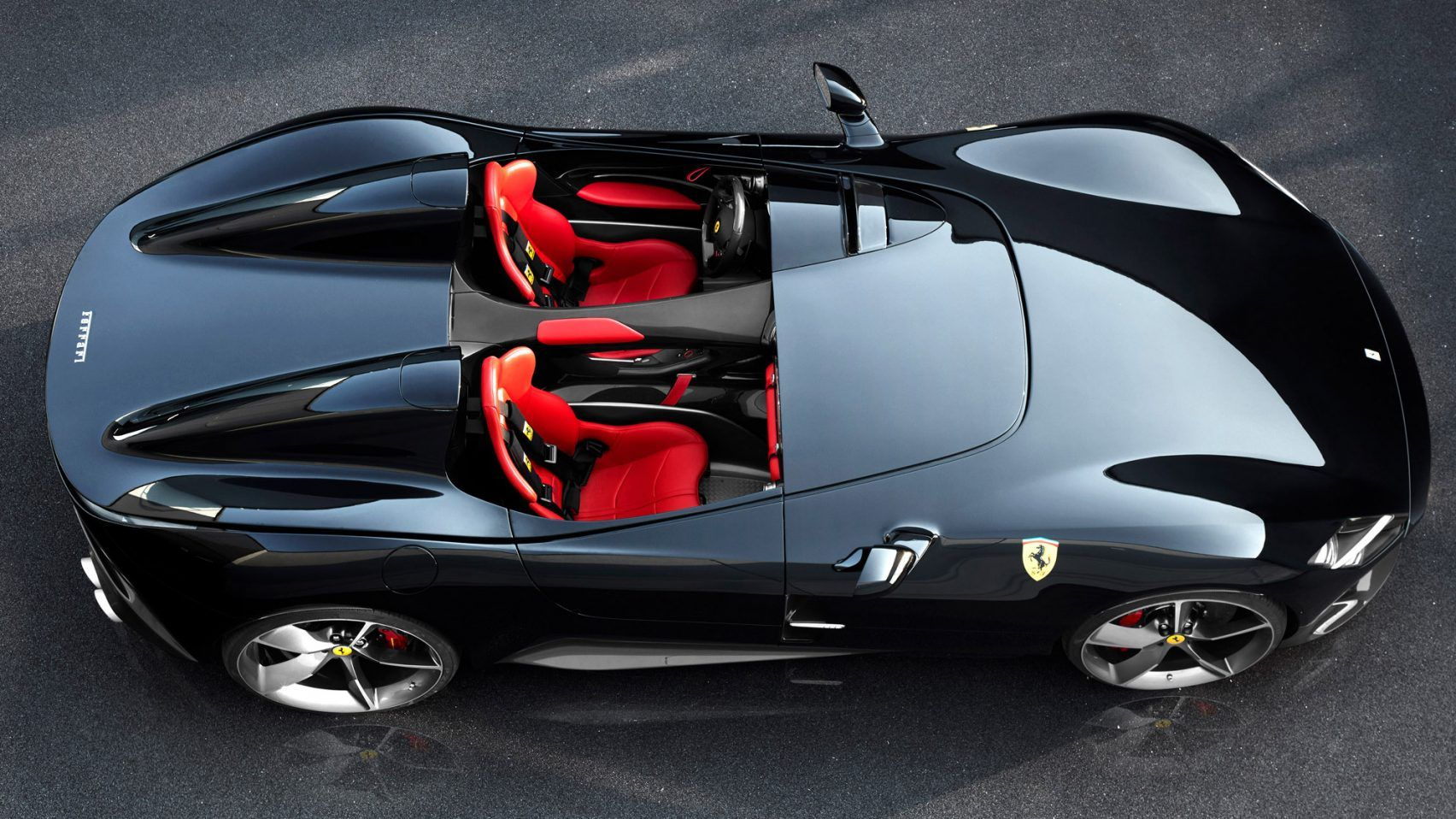 Ferrari S Latest Sports Car Has No Windshield Or Roof Race Cars First Cars Super Cars