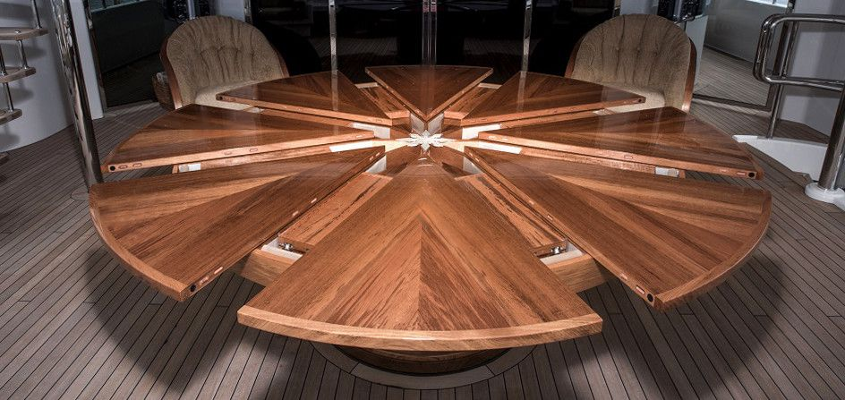 Expanding Round Table Teak And Rounding