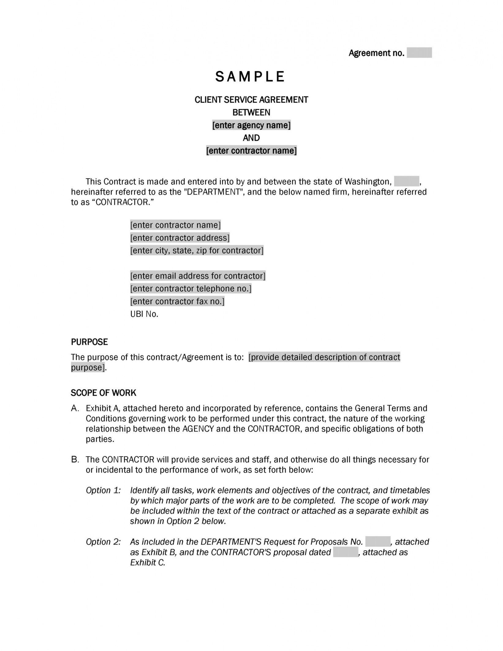 Browse Our Image Of Service Provider Agreement Template For Free Service Agreement Templates Service Contract Template Contract Template