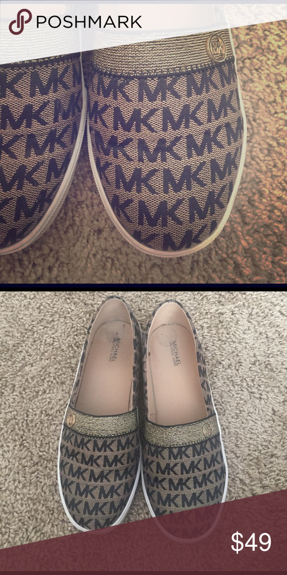 Slip on MK shoes Worn a few times. Kids size 5, fits like 7.5/8 women. In great condition MICHAEL Michael Kors Shoes Flats & Loafers
