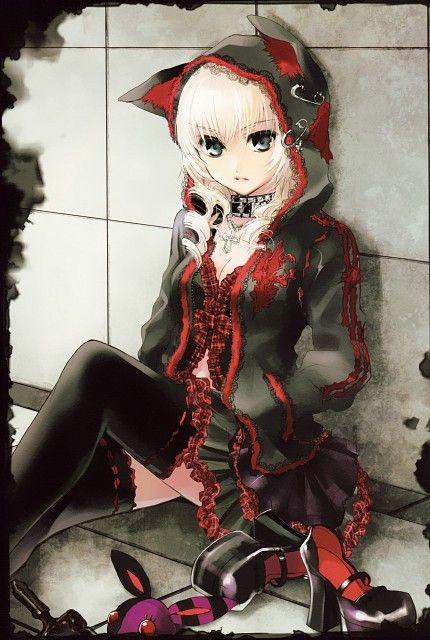 La Fille Gothique Dessin Anime Chicas Anime Et Arte De Anime