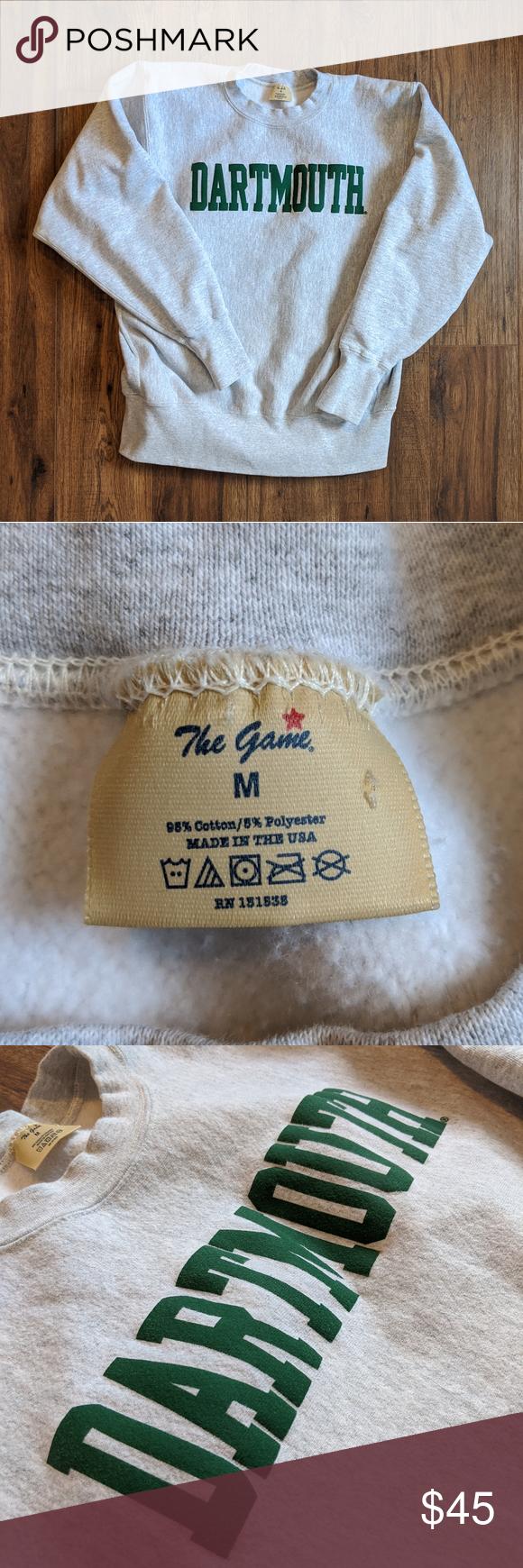 Vintage Dartmouth Crewneck Sweatshirt Crew Neck Sweatshirt Sweatshirts Vintage Sweatshirt [ 1740 x 580 Pixel ]
