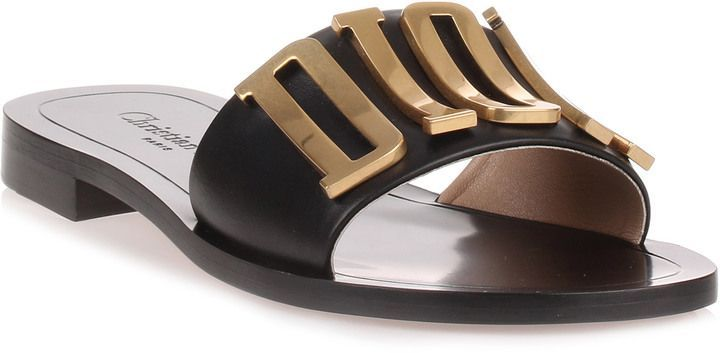 68537056d099 Christian Dior Diorevolution black leather slide