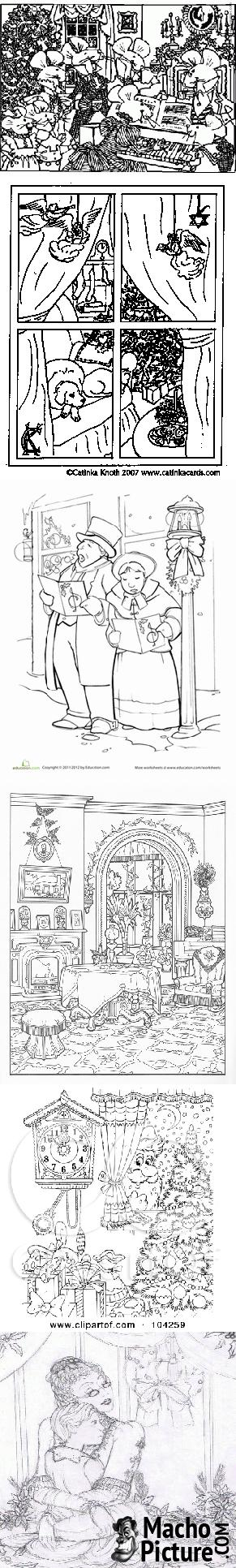 Victorian christmas coloring pages - 7 PHOTO! | Victorian Christmas ...
