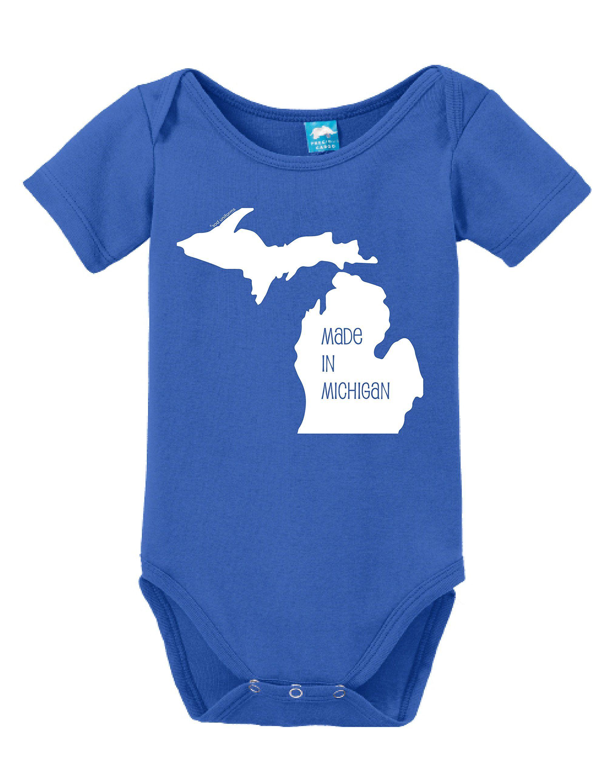 Amazon Made In Michigan esie Funny Bodysuit Baby Romper