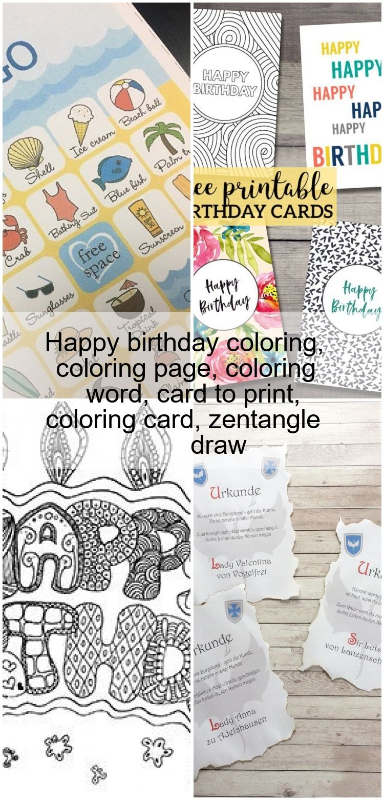 Happy birthday coloring, coloring page, coloring word, card ...