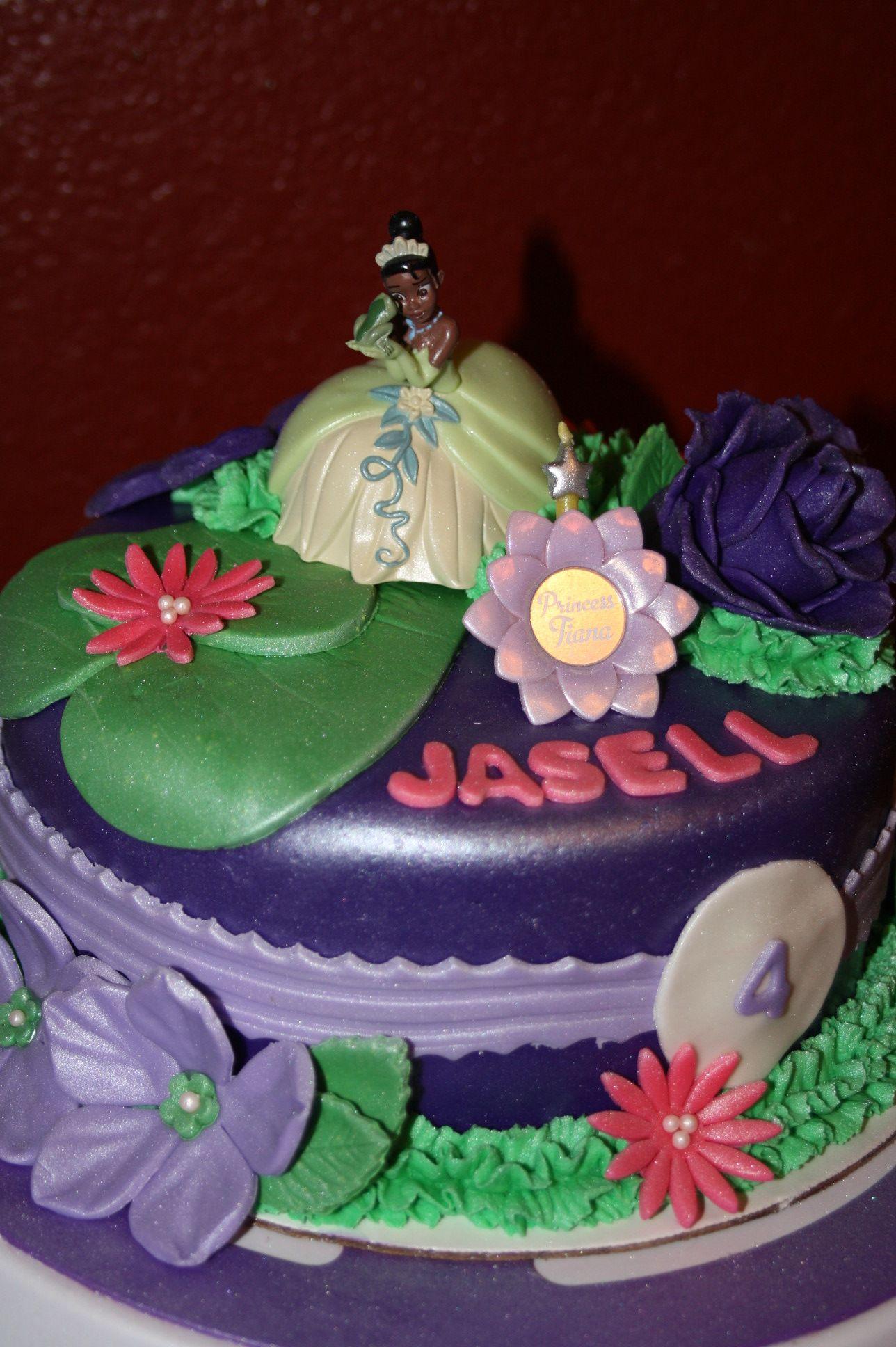 Princess tiana cake frog cakes disney cakes doll cake