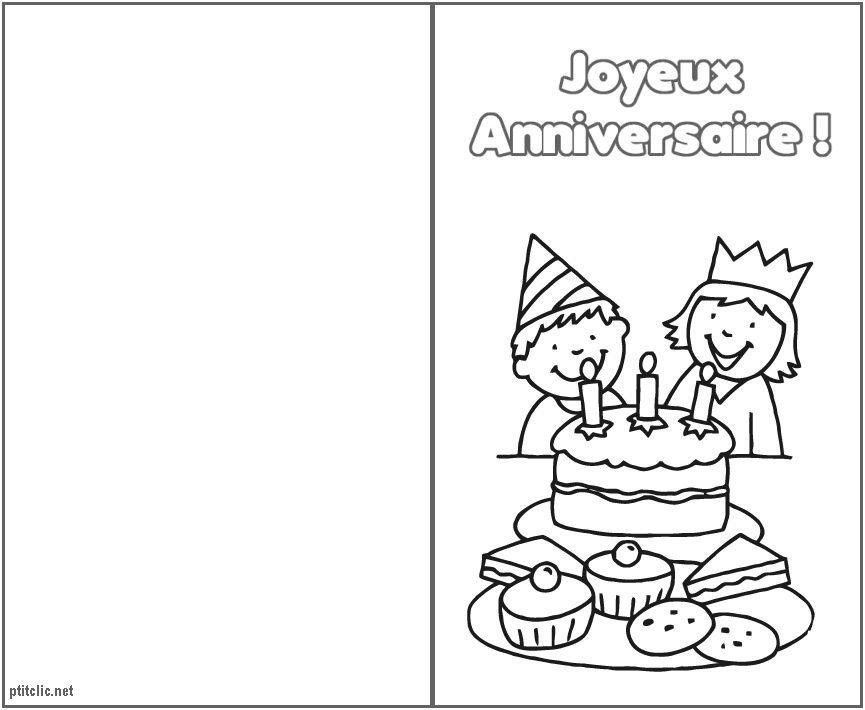 8 Excellent Coloriage Joyeux Anniversaire A Imprimer Gratuit Pics Coloriage Anniversaire Carte Anniversaire A Imprimer Carte Anniversaire