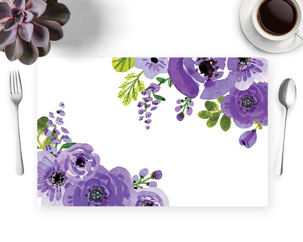 Purple floral placmats purple flowers floral cake table purple purple floral placmats purple flowers floral cake table purple floral placemats flower izmirmasajfo